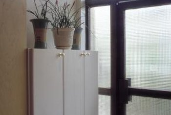 Sliding doors are often installed where space limits a swinging door.