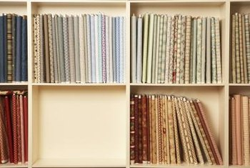 Add an extra burst of color and pattern to your space with fabric swatches..