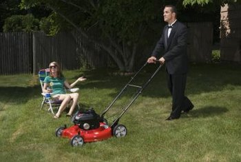 Adjusting the mower height is simple enough that you can do it in a tuxedo.