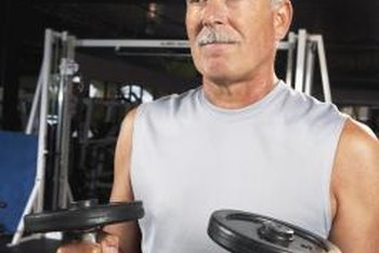 Seniors can gain strength and mass by lifting weights.