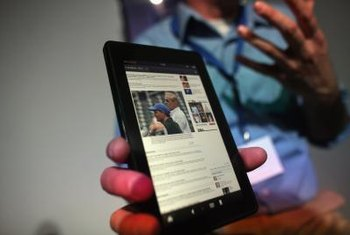 Amazon's Kindle Fire offers tablet features on an e-book reader.