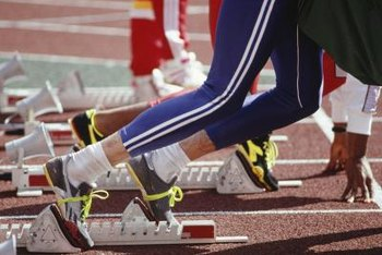 Some sprinters choose not to wear socks during competition.