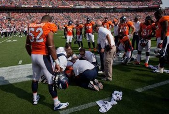 The trainers who attend to injured players are usually trained in kinesiology.