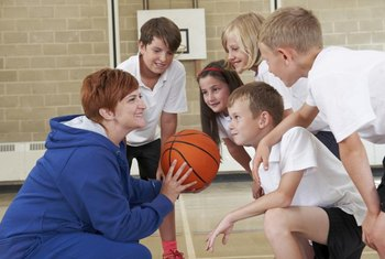 Physical education teachers may also coach sports in some schools.
