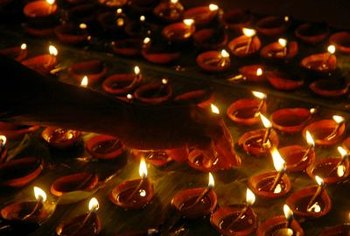 Create safe indoor or outdoor Diwali diya displays.