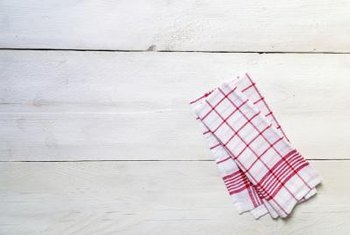 Kitchen towels are breeding grounds for bacteria.