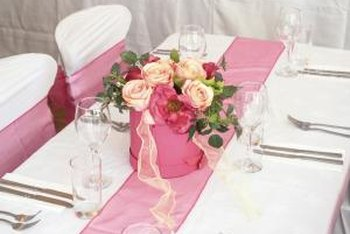 A table runner adds color and style for events.