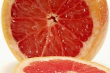 """Ruby Red"" grapefruit is a seedless fruit."