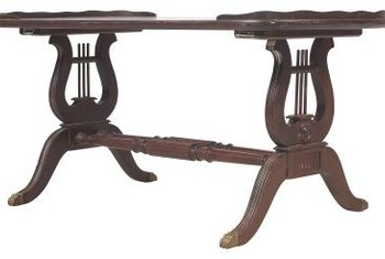 Trestle tables have the familar trestle shape with a horizontal brace.