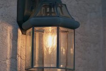 An attractive porch light might look good in your den.