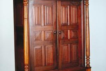 The original finish on many Victorian-era cabinets rate as environmentally friendly.
