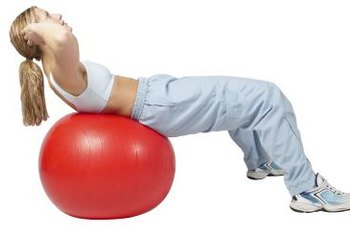 Stability ball crunches can tone your abs.