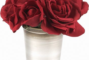 Correct stem cutting prolongs the life of cut roses.