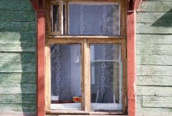 Wooden windows need glaze to keep them weatherproof.