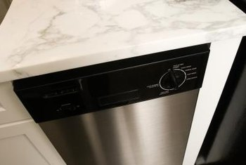 Installing a new face on your old dishwasher can brighten the whole kitchen.