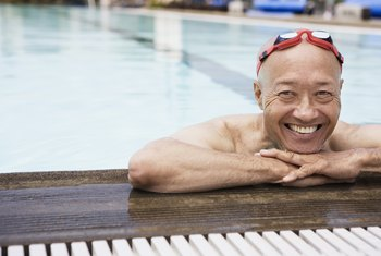 Swimming can be a rewarding cardiovascular exercise for aging men.