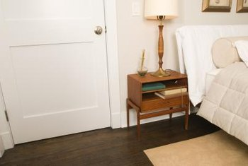 Placing furniture near a doorway may require an outlet to be nearby.