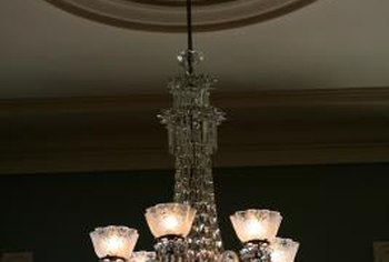 A chandelier can be hung from any supported ceiling junction box.