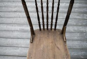 Use dowels and glue to repair most wooden chairs.