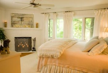 Use sheets to make coordinating window treatments.
