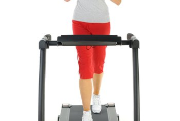 Jogging on the treadmill is an effective way to burn calories.