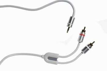 A mini-stereo-to-RCA audio cable is one way to stream iTunes to an audio receiver.