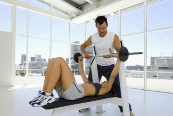The bench press is one of the most common compound lifts.
