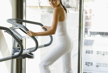 Burning 1,000 calories on an elliptical machine helps you work toward weight loss.
