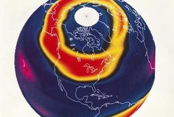 Chlorine in the upper atmosphere creates ozone holes.