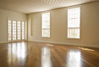 Let the light in to cast a glow across walnut wood flooring.