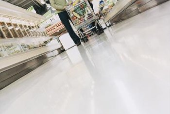 Supermarkets pride themselves on glossy, waxed floors.