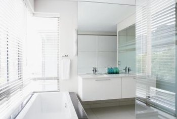 Floating vanities have become a trend in 21st century bathroom design.