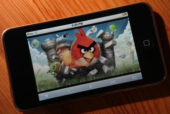 Angry Birds can be purchased from the iTunes Store.