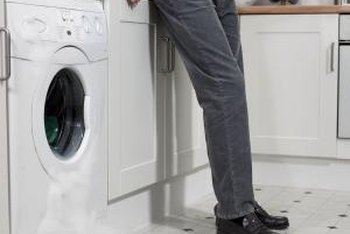 Drain hose extensions prevent washing machine door water leaks.