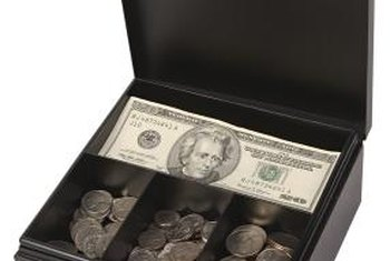 Petty cash should be kept in a safe or locked cash box.