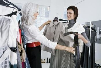 Fashion consultants help clients develop a personal sense of style and update their wardrobe with flattering looks.