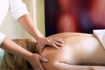 Massage therapists help relieve stress and muscular soreness.