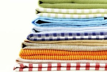 In an hour or so, you can turn these standard dish towels into ones that stay put.