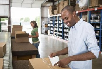 Shipping departments take care of many duties ancillary to product shipping.