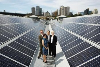 Using solar power is an example of organizational integration with the sustainable energy movement.