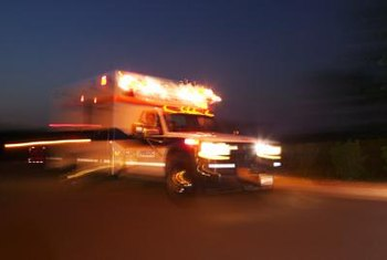 Many paramedics provide care to patients in ambulances.