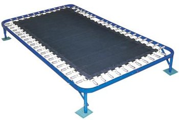 A trampoline can help build muscle and burn calories.