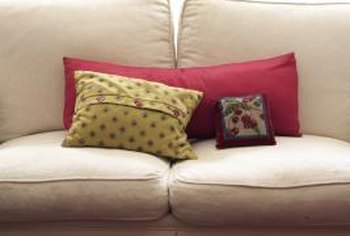 Cushions and pillows can add a creative touch to any room.