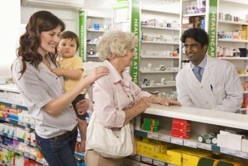 Pharmacy technicians prepare prescriptions and serve customers, among other duties.