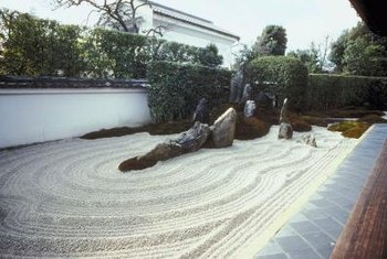 Japanese gardens are just one variation of landscaping with rocks and flowers.