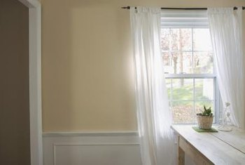 Wainscoting adds an extra design element to the walls of a room.