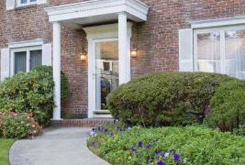 Attractive perennials improve the look of your front yard.