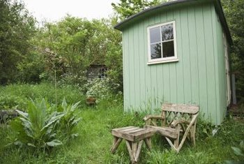 A solid building pad is the first step in building even a modest garden shed.