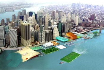 New York and other cities are experimenting with floating gardens.