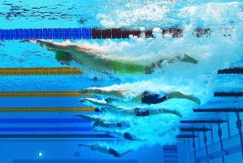 Kicking and streamlining are keys to fast underwater swimming.